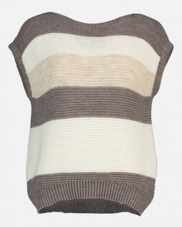CAMILLA VEST FIVE TAUPE/BEIGE/OFF